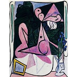Limited Edition Picasso - Nude With A Bouqet Of Irises - Collection Domaine Picasso