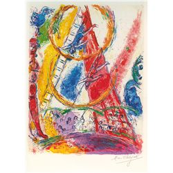 Le Cirque VIII- Chagall - Limited Edition on Canvas