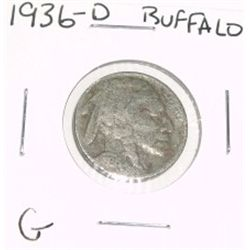 1936-D Buffalo Nickel *GOOD GRADE*!!