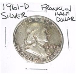 1961-D Franklin SILVER Half Dollar *PLEASE LOOK AT PICTURE TO DETERMINE GRADE - NICE COIN*!!