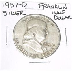 1957-D Franklin SILVER Half Dollar *PLEASE LOOK AT PICTURE TO DETERMINE GRADE - NICE COIN*!!