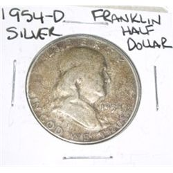 1954-D Franklin SILVER Half Dollar *PLEASE LOOK AT PICTURE TO DETERMINE GRADE - NICE COIN*!!