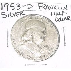 1953-D Franklin SILVER Half Dollar *PLEASE LOOK AT PICTURE TO DETERMINE GRADE - NICE COIN*!!