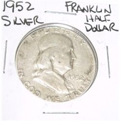 1952 Franklin SILVER Half Dollar *PLEASE LOOK AT PICTURE TO DETERMINE GRADE - NICE COIN*!!