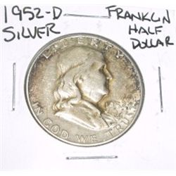 1952-D Franklin SILVER Half Dollar *PLEASE LOOK AT PICTURE TO DETERMINE GRADE - NICE COIN*!!