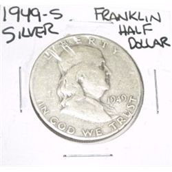 1949-S Franklin SILVER Half Dollar *PLEASE LOOK AT PICTURE TO DETERMINE GRADE - NICE COIN*!!