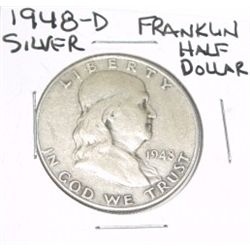1948-D Franklin SILVER Half Dollar *PLEASE LOOK AT PICTURE TO DETERMINE GRADE - NICE COIN*!!
