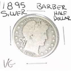 1895 Barber SILVER Half Dollar *VERY GOOD GRADE - NICE COIN*!!