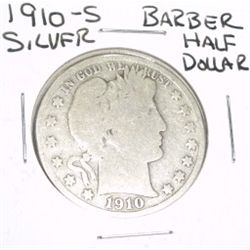 1910-S Barber SILVER Half Dollar *PLEASE LOOK AT PICTURE TO DETERMINE GRADE - NICE COIN*!!