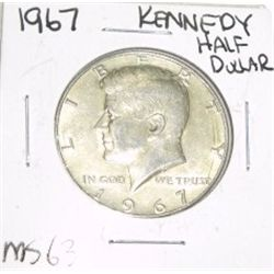1967 Kennedy SILVER Half Dollar *RARE MS-63 HIGH GRADE - NICE COIN*!!