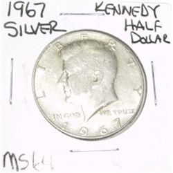 1967 Kennedy SILVER Half Dollar *RARE MS-64 HIGH GRADE - NICE COIN*!!