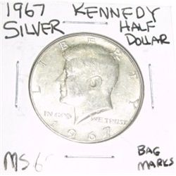 1967 Kennedy SILVER Half Dollar *VERY RARE MS-65 HIGH GRADE - NICE COIN*!!