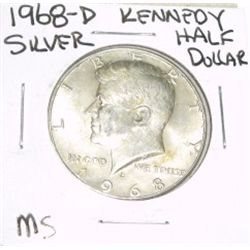 1968-D Kennedy SILVER Half Dollar *RARE MS HIGH GRADE - NICE COIN*!!
