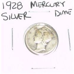 1928 Mercury SILVER Dime *PLEASE LOOK AT PICTURE TO DETERMINE GRADE*!!