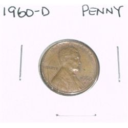 1960-D Lincoln Cent Penny *PLEASE LOOK AT PICTURE TO DETERMINE GRADE - NICE COIN*!!