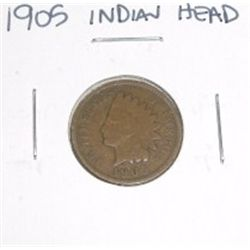 1905 Indian Head Penny *PLEASE LOOK AT PICTURE TO DETERMINE GRADE - NICE COIN*!!