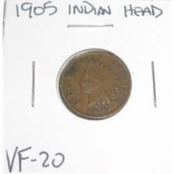 1905 Indian Head Penny *NICE VERY FINE-20 GRADE - NICE COIN*!!