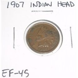 1907 Indian Head Penny *RARE EXTRA FINE HIGH GRADE - NICE COIN*!!