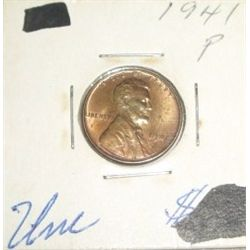 1941-P Wheat Penny *RARE UNC HIGH GRADE - NICE COIN*!!