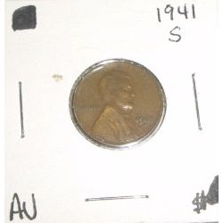 1941-S Wheat Penny *RARE AU HIGH GRADE - NICE COIN*!!