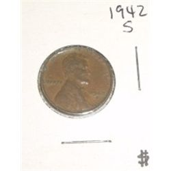 1942-S Wheat Penny *PLEASE LOOK AT PICTURE TO DETERMINE GRADE - NICE COIN*!!