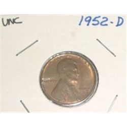 1952-D Wheat Penny *RARE UNC HIGH GRADE - NICE COIN*!!