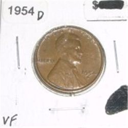1954-D Wheat Penny *NICE VERY FINE GRADE - NICE COIN*!!