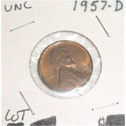 1957-D Wheat Penny *RARE UNC HIGH GRADE - NICE COIN*!!