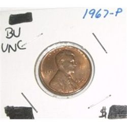 1967-P Wheat Penny *RARE BU UNC HIGH GRADE - NICE COIN*!!