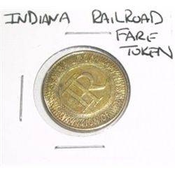 INDIANA RAILROAD *FARE TOKEN*!!