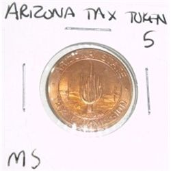 Arizona State TAX TOKEN 5 SALES TAX PAYMENT *RARE MS HIGH GRADE - NICE TOKEN*!!
