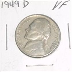 1949-D Jefferson Nickel *NICE VERY FINE GRADE*!!