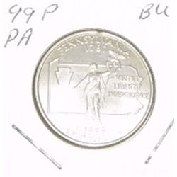 1999-P Washington STATE Quarter *PENNSYLVANIA BU-BRILLIANT UNC HIGH GRADE* NICE COIN!!