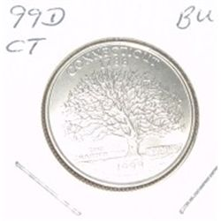 1999-D Washington STATE Quarter *CONNETICUT BU-BRILLIANT UNC HIGH GRADE* NICE COIN!!