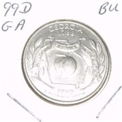 1999-D Washington STATE Quarter *GEORGIA BU-BRILLIANT UNC HIGH GRADE* NICE COIN!!