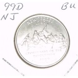 1999-D Washington STATE Quarter *NEW JERSEY BU-BRILLIANT UNC HIGH GRADE* NICE COIN!!