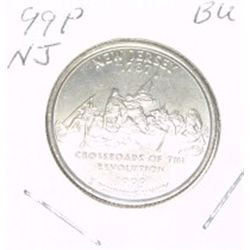 1999-P Washington STATE Quarter *NEW JERSEY BU-BRILLIANT UNC HIGH GRADE* NICE COIN!!