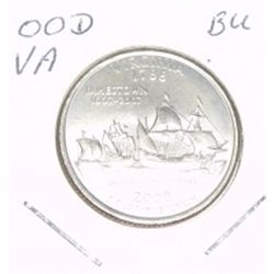 2000-D Washington STATE Quarter *VIRGINIA BU-BRILLIANT UNC HIGH GRADE* NICE COIN!!