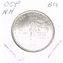 2000-P Washington STATE Quarter *NEW HAMPSHIRE BU-BRILLIANT UNC HIGH GRADE* NICE COIN!!
