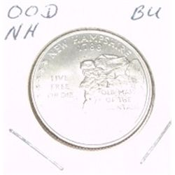 2000-D Washington STATE Quarter *NEW HAMPSHIRE BU-BRILLIANT UNC HIGH GRADE* NICE COIN!!
