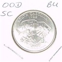 2000-D Washington STATE Quarter *SOUTH CAROLINA BU-BRILLIANT UNC HIGH GRADE* NICE COIN!!