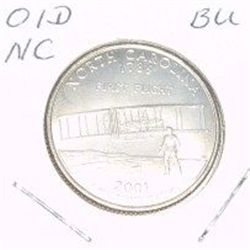 2001-D Washington STATE Quarter *NORTH CAROLINA BU-BRILLIANT UNC HIGH GRADE* NICE COIN!!
