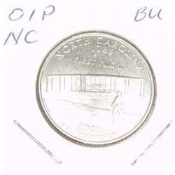2001-P Washington STATE Quarter *NORTH CAROLINA BU-BRILLIANT UNC HIGH GRADE* NICE COIN!!