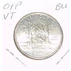 2001-P Washington STATE Quarter *VERMONT BU-BRILLIANT UNC HIGH GRADE* NICE COIN!!