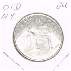 2001-D Washington STATE Quarter *NEW YORK BU-BRILLIANT UNC HIGH GRADE* NICE COIN!!