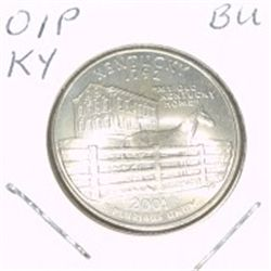 2001-P Washington STATE Quarter *KENTUCKY BU-BRILLIANT UNC HIGH GRADE* NICE COIN!!