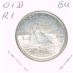 2001-D Washington STATE Quarter *RHODE ISLAND BU-BRILLIANT UNC HIGH GRADE* NICE COIN!!