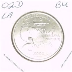 2002-D Washington STATE Quarter *LOUISIANA BU-BRILLIANT UNC HIGH GRADE* NICE COIN!!