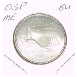 2003-P Washington STATE Quarter *MAINE BU-BRILLIANT UNC HIGH GRADE* NICE COIN!!