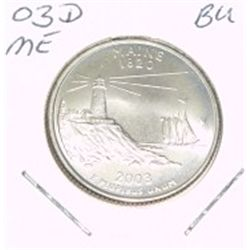 2003-D Washington STATE Quarter *MAINE BU-BRILLIANT UNC HIGH GRADE* NICE COIN!!